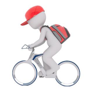 Mensajero en bici TecnoPC