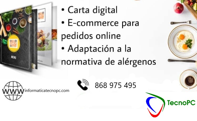 Carta digital - ecommerce bares