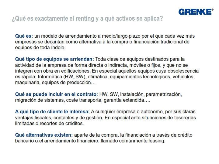Soluciones de renting tecnologico con Grenke