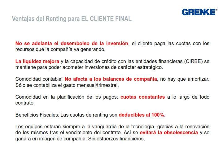 Ventajas del renting con Grenke y TecnoPC